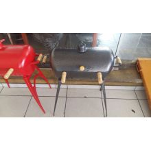 Pedestal para churrasqueira a bafo aluminio