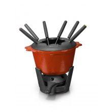 Fondue de Ferro Fundido vermelho 1,2 litros 16 cm diametro