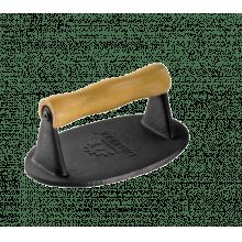 Prensador de carne oval, prensa hamburguer, ferro fundido 1 kg 18x11 cm lib