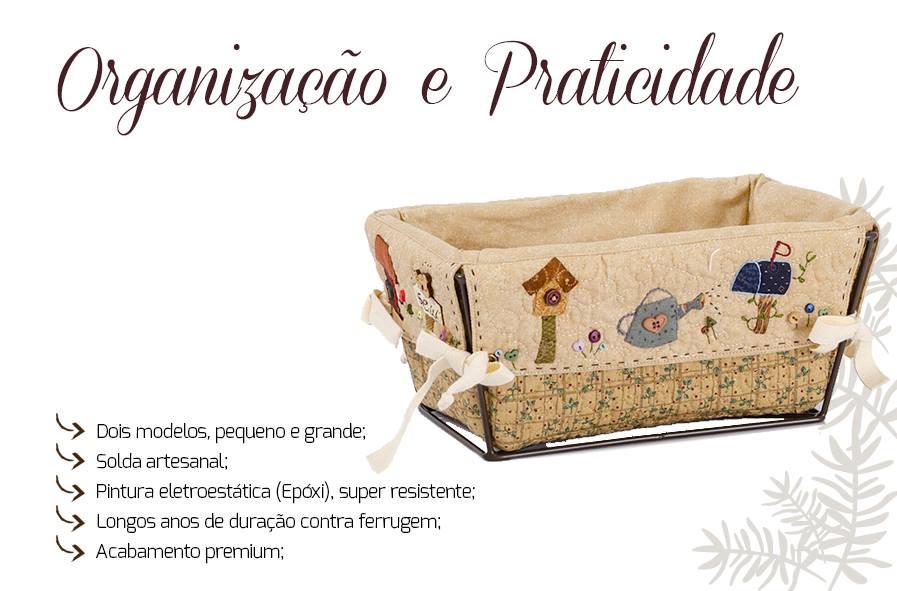 Banner descrição cesto de costura