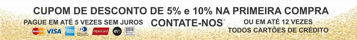 Cupom de 5%e 10% de desconto