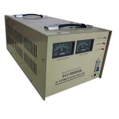 ESTABILIZADOR DE TENSÃO MONOFÁSICO 8 KVA (32 AMP - 220 Vca) SCV-80