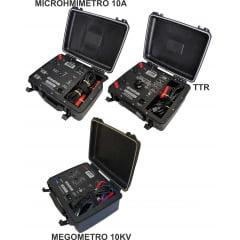 """MEGOMETRO 10KV + MICROHMIMETRO 10A + MEDIDOR DE RELAÇÃO DE ESPIRAS """"TTR"""" E CERTIFICADOS"""