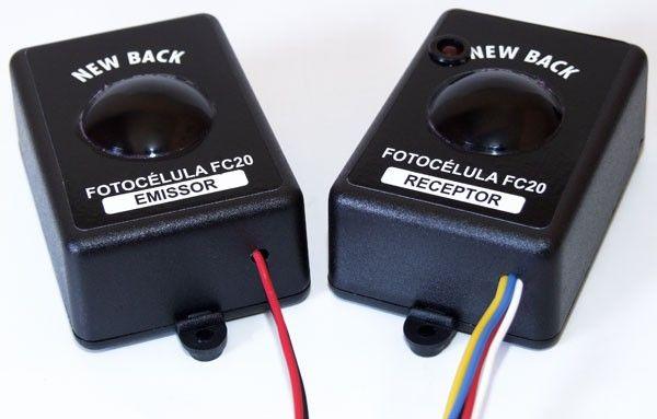 Fotocélula New Back - Ideal para Portão de Carros - Evita a Batida em cima do Carro