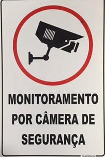 Placa Sinalização Monitoramento por Câmeras de Segurança - Marca: SuperPladcas