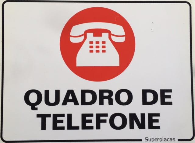 Placa De Sinalizaçao Quadro De Telefone  Tamanho: 15x20cm - Material: Plástico: Marca: SuperPlacas