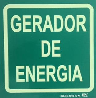 Placa Sinalização Rota de Fuga Certificada NBR 13434-3 Gerador de Energia