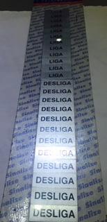 Placa Sinalização Liga Desliga em Aluminio Contem 24 Peças Marca Sinalize