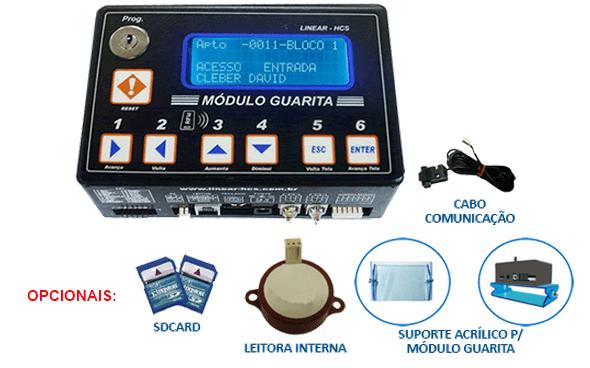 Modulo de Guarita Linear HCS Modelo: IP - Ideal Para Controle de Carros para Condomínios