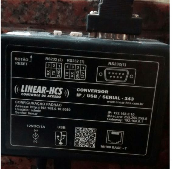 CONVERSOR IP / USB / SERIAL - 317-RV1 - marca: Linear