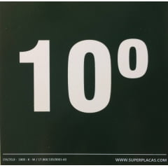 Placa 10° Andar - Fotoluminescente
