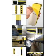 Csntoneira Borracha EVA Autocolante para Estacionamento - 80 cm de altura, Espessura de 1,5 cm  em Borracha EVA