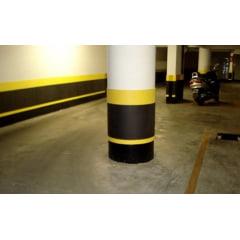 Manta Borracha EVA - Medidas: 1 Mts Largura x75cm x Espessura 1cm - Protetor Estacionamento Coluna EVA