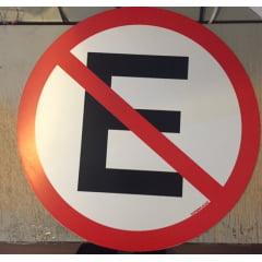Placa Proibido Estacionar - Plástico 45x45cm  - 300AD