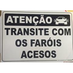 Placa Transite com Fárois Acesos - 30x42 Cm