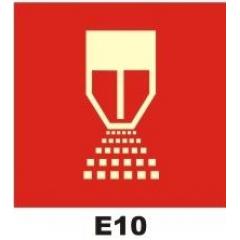 Placa Sinalização Sprincler Chuveiro Codigo: e10 - Certificada Fotoluminescente E10