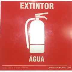 Placa Certificada Extintor H2O - Àgua - 20x20