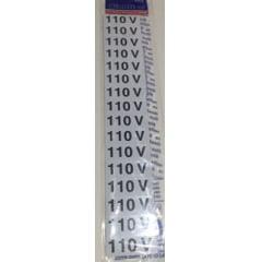 Placa Sinalização 110 Volts - Plástico