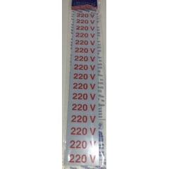Placa Sinalização  220 Volts -Plástico