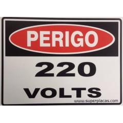 Placa Sinalização 220 Volts