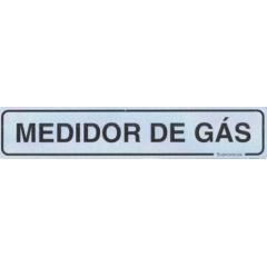 Placa Sinalização Condomínio MEDIDOR GÀS  - Alumínio - 5x25cm