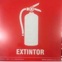 Placa Sinalização Extintor 14x14 cm