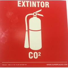Placa Sinalização Extintor Co2 (Gás Carbonico) Certificada NBR 13434-3