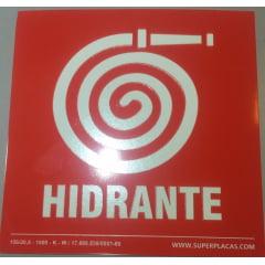 Placa Sinalização Extintor Hidrante