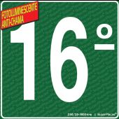 Placa 16° Andar - Fotoluminescente