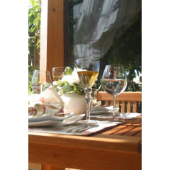 Mesa Madeora Dobrável Quadrada Marca: Butzke Ideal para ambientes Externo Churrasqueira Piscina