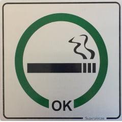 Placa Permitido Fumar - Alumínio