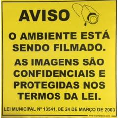 Placa Lei 13541 Ambiente Filmado