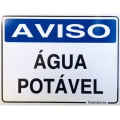 Placa Aviso: Água Potável