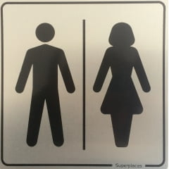 Placa Banheiro Unissex Plus