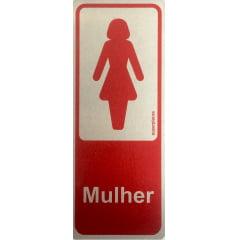 Placa Sanitário Feminino 6x15 Alumínio SuperPlacas