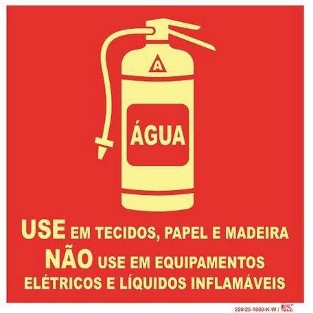 Placa Sinalização água Com Extintor