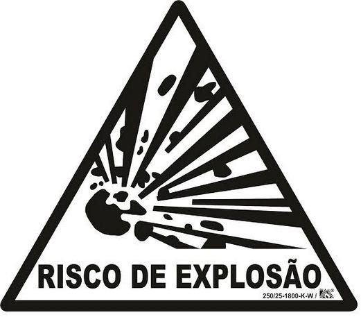 Placa Sinalização Risco De Explosão Fotoluminescente