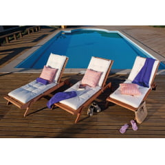 Cadeira Espreguiçadeira Madeira Butzke Modelo Ipanema Ideal para Piscina de Condomínio