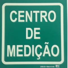 Placa de Sinalização Centro de Medição - Fotoluminescente