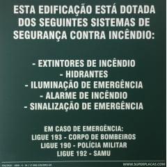 Placa M1  - Rota de Fuga -  Fotoluminescente - 30x30cm - Modelo 5 Frases