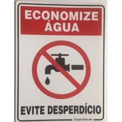 Placa Sinalização Economize Agua - Evite Desperdício