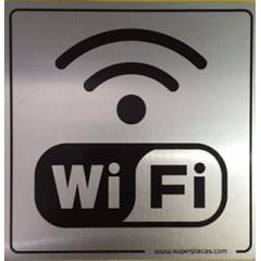 Placa Office Sinalize  Wifi  12x12 Alumínio 900AO