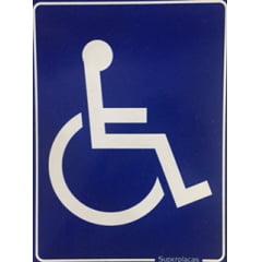 Placa Banheiro Acessibilidade Cadeirante Deficiente Plástico 15x20cm