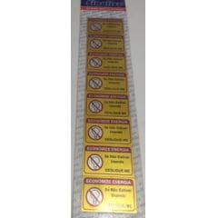 Placa Enconomize Energia em Aluminio Marca Sinalize