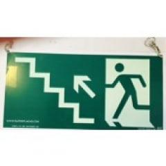 Placa Rota Fuga  Escada Subindo a Esquerda Teto