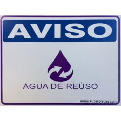 Placa Aviso: Água de Reúso