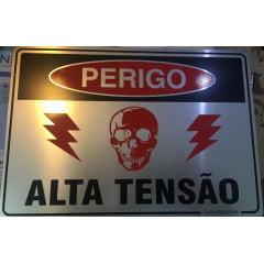 PLaca De Sinalizaçao Alta Tensao 18 x 23  - Aluminio