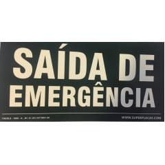Placa de Sinalização Rota Fuga - S17 - Saída de Emergência - Extra Grande (30 x 60 cm) Teto Dupla Face