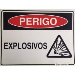 Placa Sinalização Explosivos