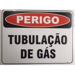 Placa Sinalização Tubulação de Gás - Plástico 15x20cm SuperPlacas